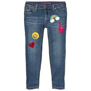 Lands End Girls Bottoms Blue Wash 5 Pocket Girlfriend Fit Jeans