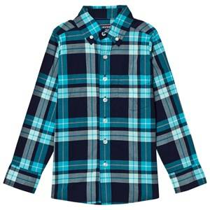 Lands End Boys Tops Blue Pale Blue Poplin Shirt
