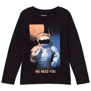 Lands End Boys Tops Black Black Nasa Astronaut Graphic Tee