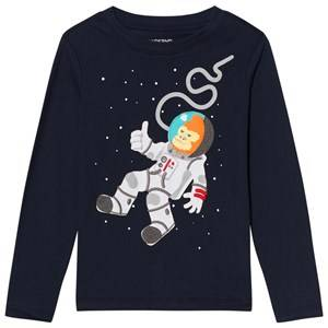 Lands End Boys Tops Blue Blue Space Gorilla Applique Tee