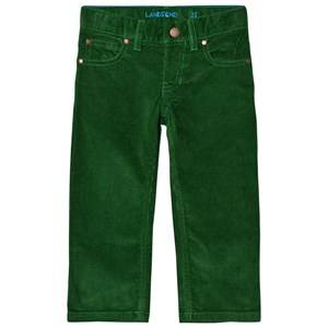 Lands End Boys Bottoms Green 5 Pocket Corduroy Trousers