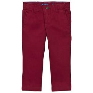 Lands End Boys Bottoms Red Red Twill Chino Trousers