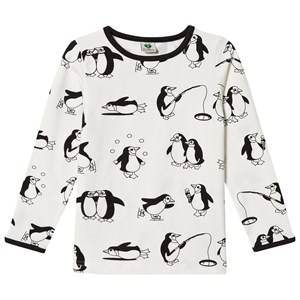 Småfolk Boys Tops Cream Cream Penguin Print Tee