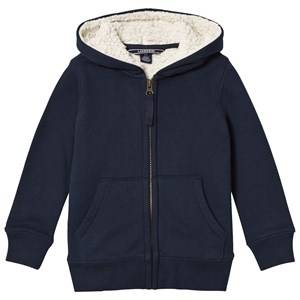 Lands End Boys Jumpers and knitwear Navy Navy Solid Sherpa Lined Hoodie