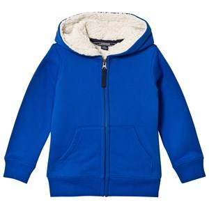 Lands End Boys Jumpers and knitwear Blue Blue Solid Sherpa Lined Hoodie