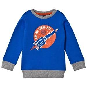 Lands End Boys Jumpers and knitwear Blue Blue Rocket Glow in the Dark Sweatshirt