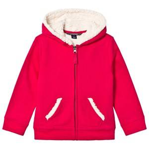 Lands End Girls Jumpers and knitwear Red Red Berry Solid Sherpa Hoodie