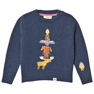 Tootsa MacGinty Unisex Jumpers and knitwear Navy Alberta Totem Knit Jumper True Navy