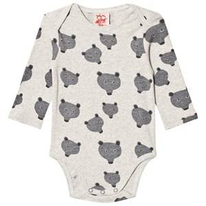 Tootsa MacGinty Unisex All in ones Grey Grey Bear Print Allover Baby Body