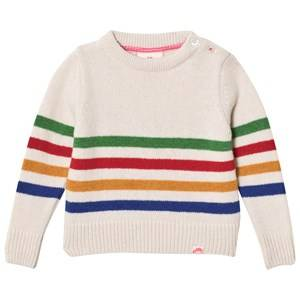 Tootsa MacGinty Unisex Jumpers and knitwear Cream Cream Ontario Striped Knit Jumper