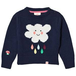 Tootsa MacGinty Unisex Jumpers and knitwear Navy Mortimere Cloud Knit Jumper Deep Blue
