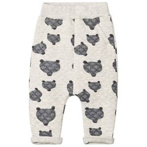Tootsa MacGinty Unisex Bottoms Grey Grey Bear Print Allover Quilted Sweatpants