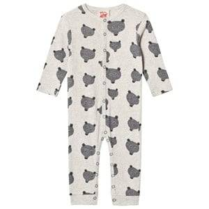 Tootsa MacGinty Unisex All in ones Grey Grey Bear Print Allover One-Piece
