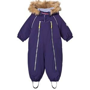 Ticket to heaven Unisex Coveralls Purple Snowsuit Baggie with Detachable Hood Purple