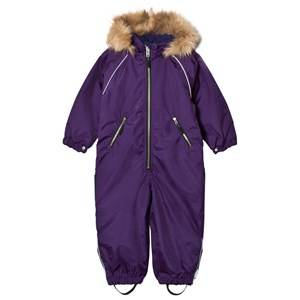 Ticket to heaven Unisex Coveralls Purple Snowsuit with Detachable Hood Purple
