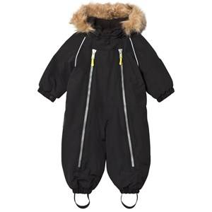 Ticket to heaven Unisex Coveralls Black Snowsuit Baggie with Detachable Hood Black
