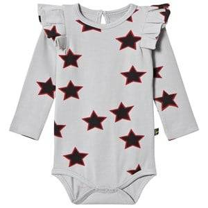 The BRAND Girls Private Label All in ones Red Flounce Baby Body Allstar