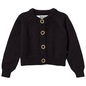 The BRAND Girls Private Label Jumpers and knitwear Black Puff Knit Cardigan Black