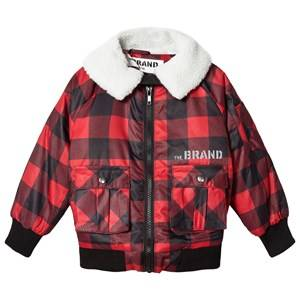 The BRAND Unisex Private Label Coats and jackets Red Shearling Pilot Jacket Red Check