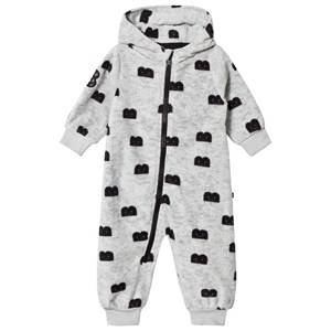 The BRAND Unisex Private Label Fleeces Grey B-Moji Fleece Onesie Grey Melange