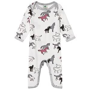 Småfolk Unisex All in ones Cream Cream Horse Print One-Piece