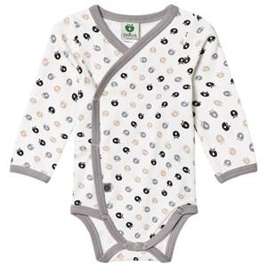 Småfolk Unisex All in ones Cream Light Cream Apple Print Wrap Body