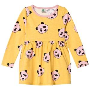 Småfolk Girls Dresses Yellow Yellow Panda Print Dress