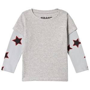 The BRAND Unisex Private Label Tops Grey Allstar Double Tee Grey Melange