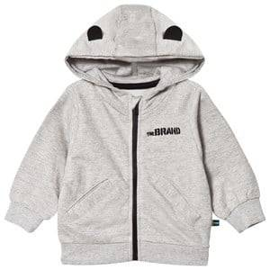 The BRAND Unisex Private Label Jumpers and knitwear Grey Baby Face Hoodie Grey Melange Face