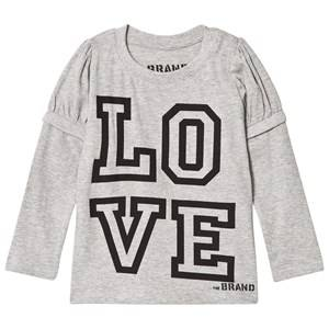 The BRAND Girls Private Label Tops Grey Love Kiss Tee Grey Melange