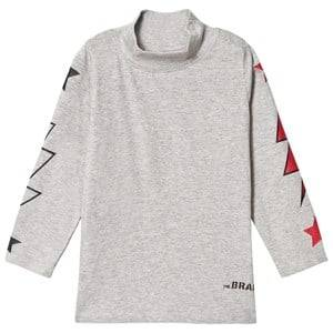 The BRAND Unisex Private Label Tops Grey Polo Bolt Tee Grey Melange