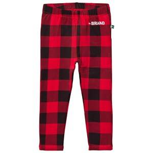 The BRAND Girls Private Label Bottoms Red Leggings Checkered Red