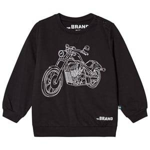 The BRAND Boys Private Label Jumpers and knitwear Black Moto Terry Sweatshirt Black