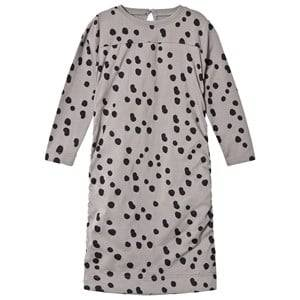 The BRAND Girls Private Label Dresses Grey Draped Balloon Dress Grey Dot