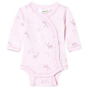 Joha Unisex All in ones Pink Baby Body Side Closing Pink