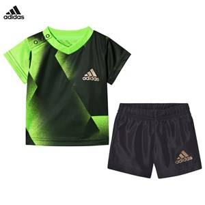 adidas Performance Boys Clothing sets Green Green Football Silo Shorts and Tee