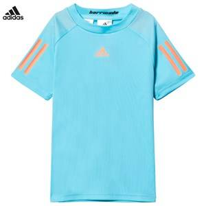 adidas Performance Boys Tops Blue Samba Blue Barricade Tennis Tee