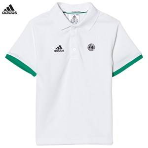 adidas Performance Boys Tops White White Roland Garros Tennis Polo