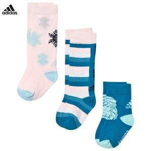 adidas Performance Girls Underwear Pink Disney Frozen 3-Pack Kids Socks