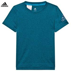 adidas Performance Boys Tops Blue Teal Heather Performance Training Tee