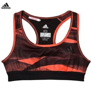 adidas Performance Girls Underwear Orange Coral Printed Performance Training Sports Bra