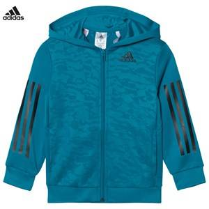 adidas Performance Boys Jumpers and knitwear Blue Teal Training Full Zip Hoodie