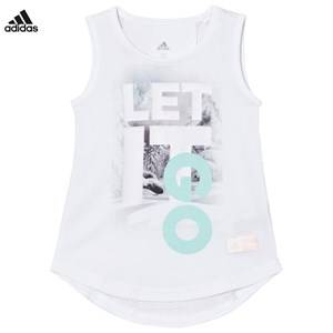 adidas Performance Girls Tops White Disney Frozen Tank Top