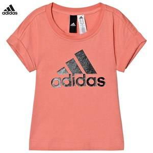 adidas Performance Girls Tops Pink Pink Logo Tee