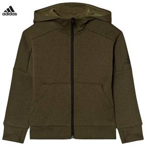 adidas Performance Boys Jumpers and knitwear Green Khaki ID Stadium Hoodie