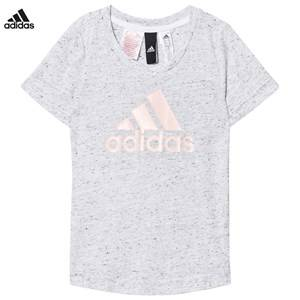 adidas Performance Girls Tops White White/Black ID Tee
