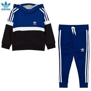 adidas Originals Boys Jumpers and knitwear Navy Kids Trefoil Hooded Tracksuit Blue/White/Black