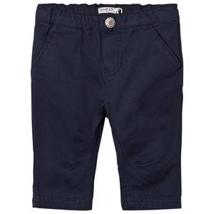 Wheat Boys Bottoms Navy Blue With Forge Grey Noah Trousers Navy