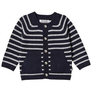 Wheat Unisex Jumpers and knitwear Navy Classic Stripe Knit Cardigan Navy