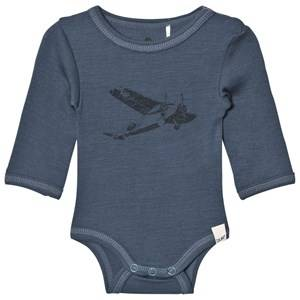 Celavi Unisex All in ones Navy Wool Baby Body Navy
